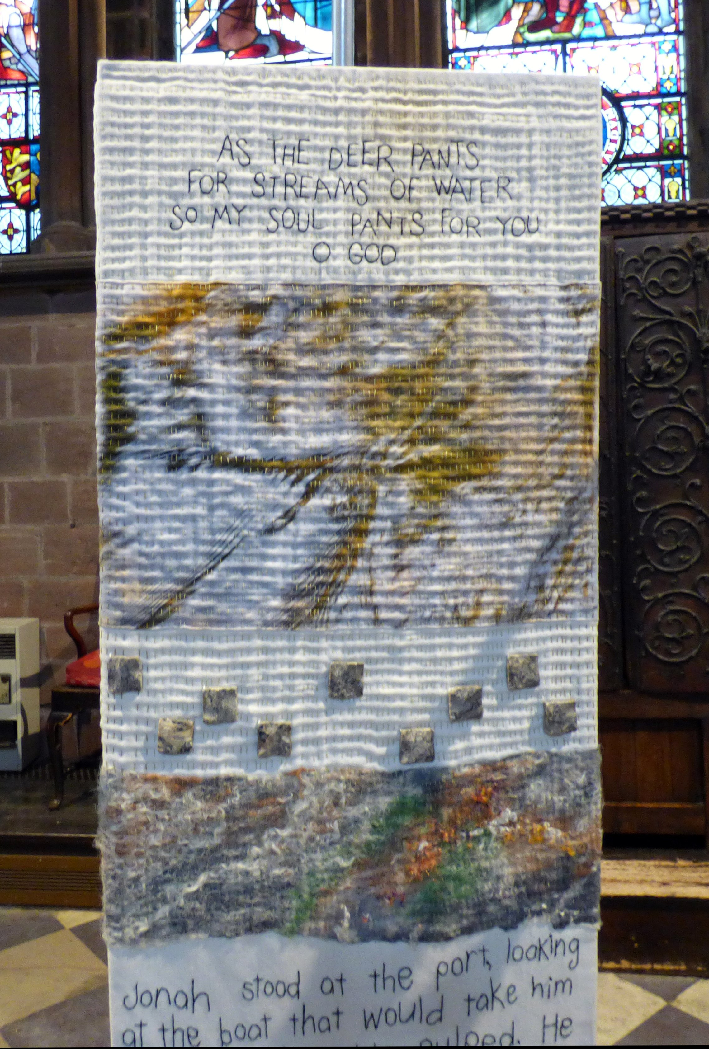 (detail) (detail) RIVER OF LIFE by Jacqui Parkinson, Chester Cathedral 2019
