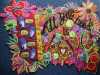 1st Prize Winner, PSYCHEDELIC LOVE by Sandra Kendal, North Lonsdale branch, computer printed photos with machine stitch and applique, Rose Bowl competition 2021