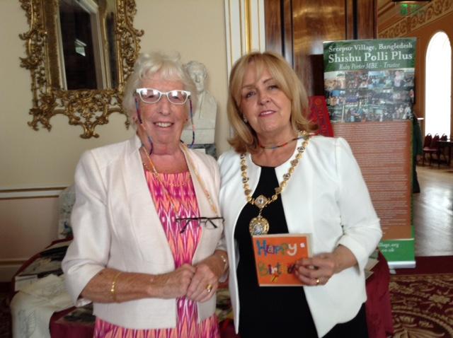 Rubina Porter MBEand the Lady Mayoress Mrs Ann Conception, Sept 2015