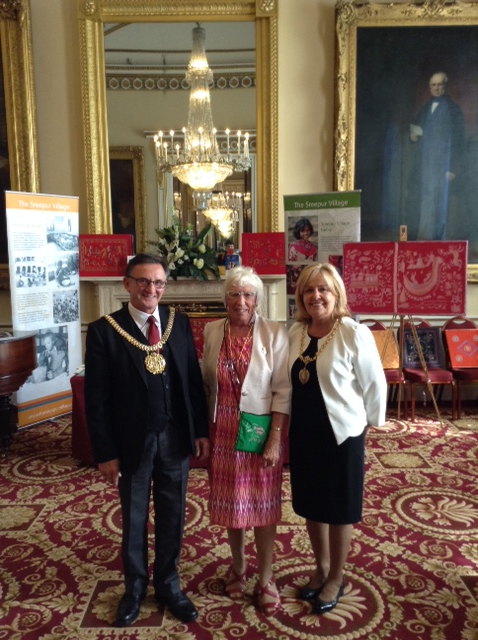 Rubina Porter MBE with the Lord Mayor of Liverpool Cllr Tony Conception and Lady Mayoress , Sept 2015