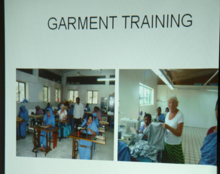 girls and women training for work in the garment factories, which make clothes for NEXT, M&S etc.