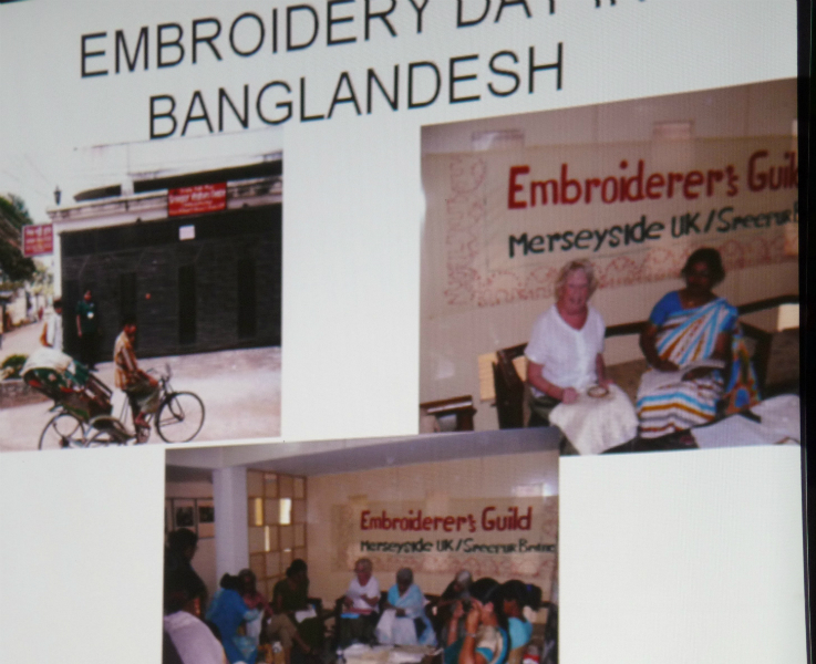 Embroidery Day in Bangladesh- Sreepur are part of Merseyside Embroiderers\' Guild