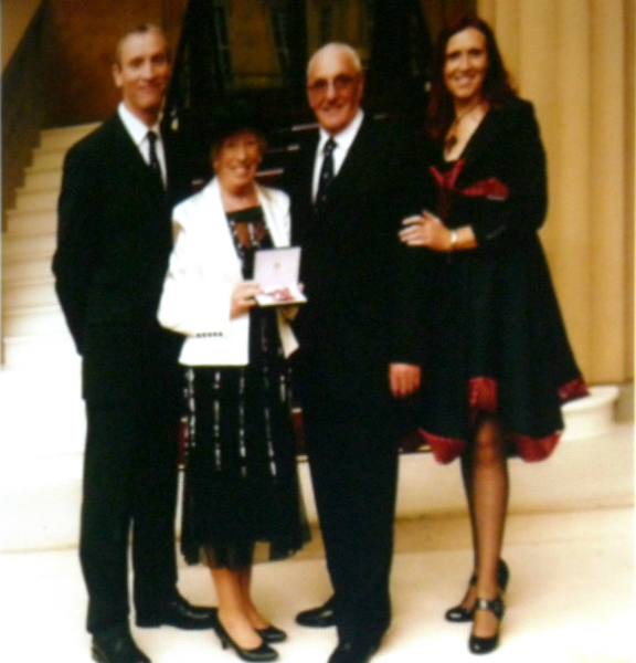 Ruby and her family on the day she was presented with her MBE fo