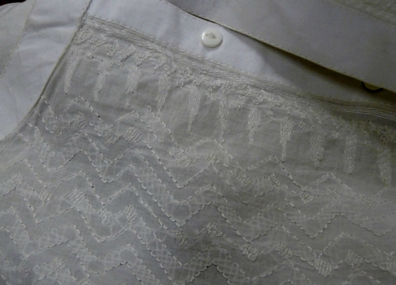 detail of previous garment