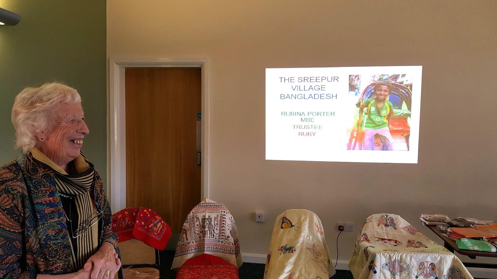 Rubina Porter MBE visit to Glossop EG 2017
