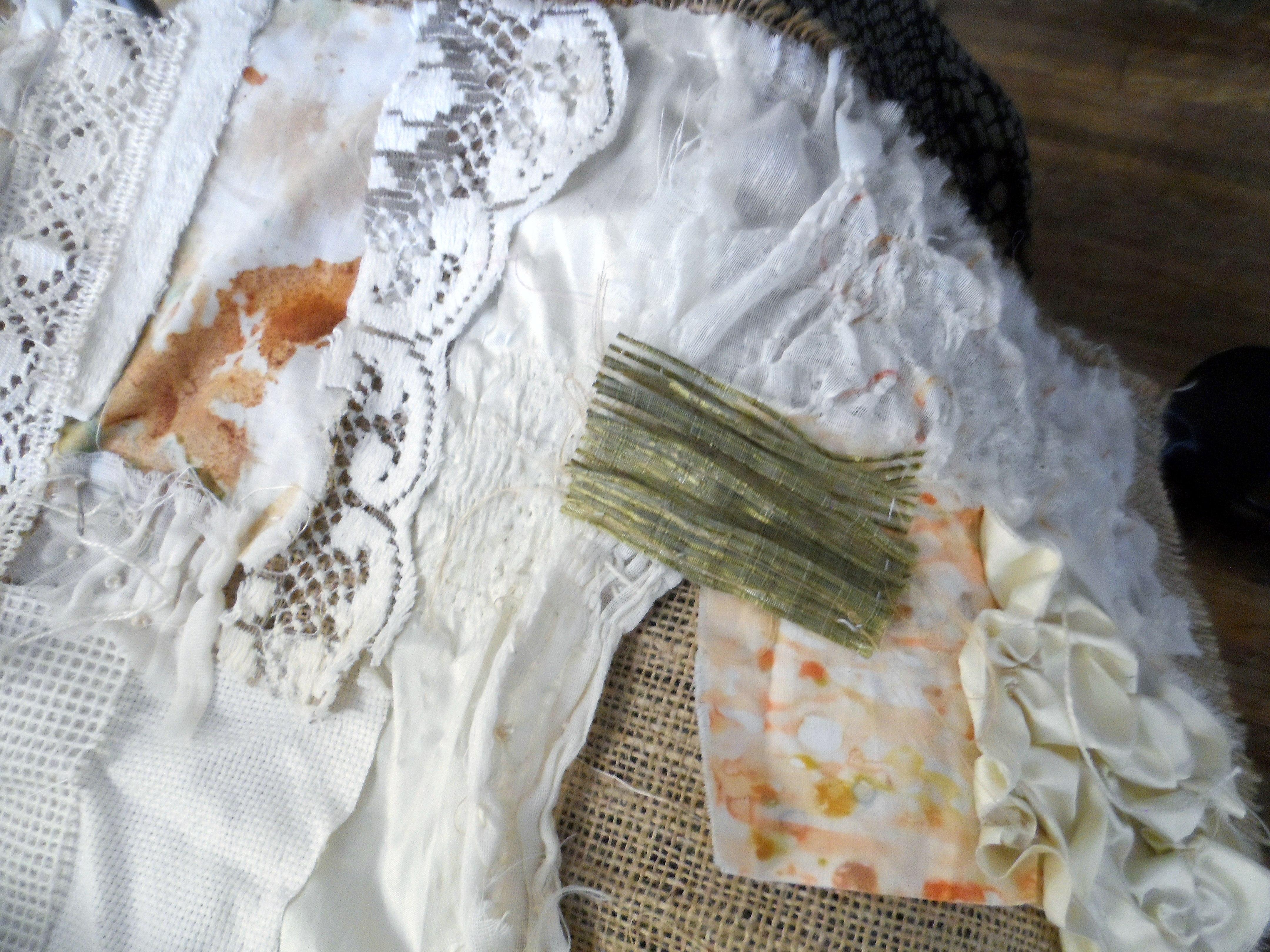 "student's work at Workshop with Wendy Bellman ""Textured Collage"", Nov 2019"