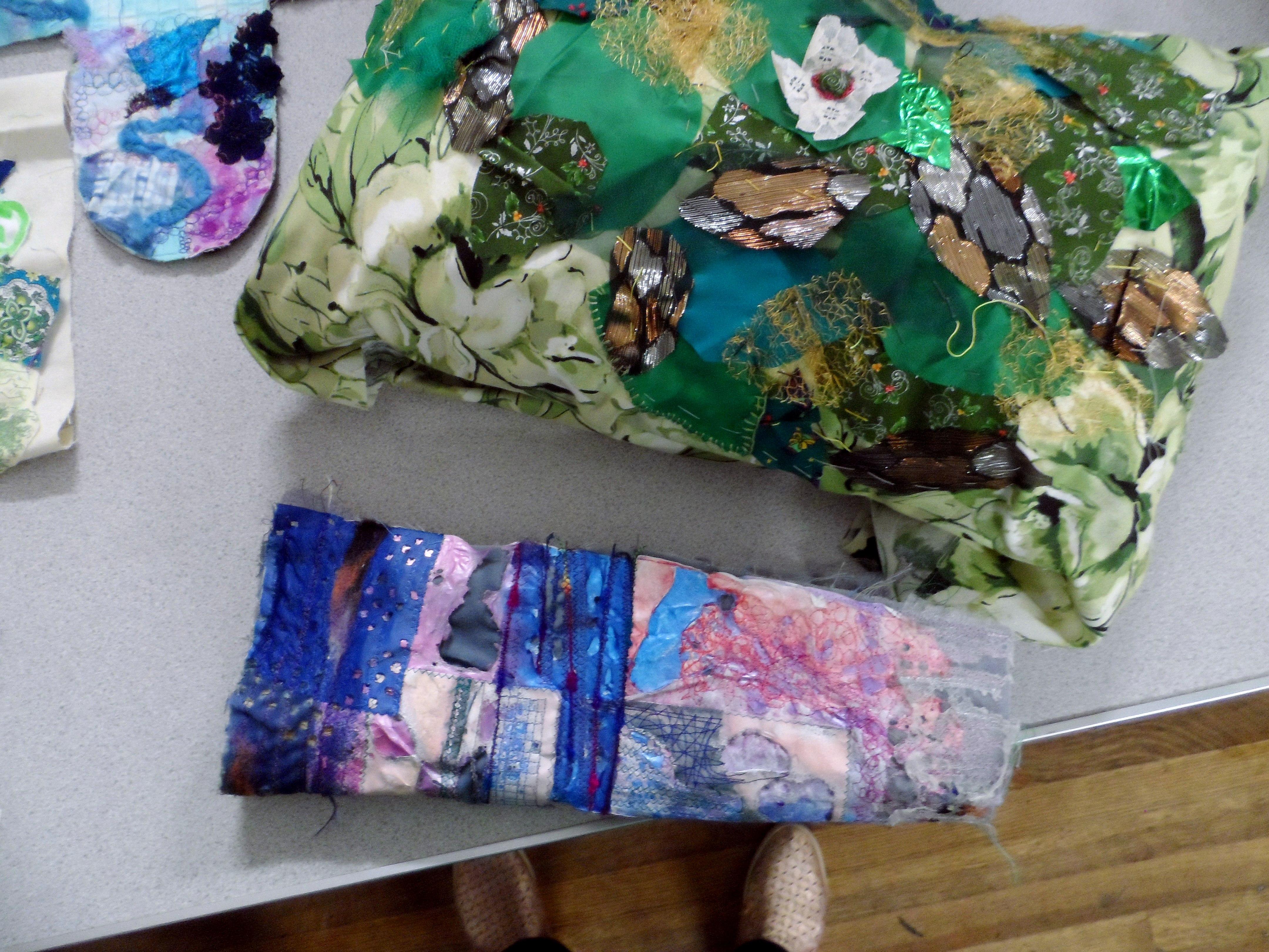 """Workshop with Wendy Bellman """"Textured Collage"""", Nov 2019"""