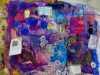 "sample by Wendy Bellman at Workshop with Wendy Bellman ""Textured Collage"", Nov 2019"