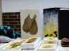"samples of work by Sandra Kedzlie for ""Blue Threads"" exhibition"
