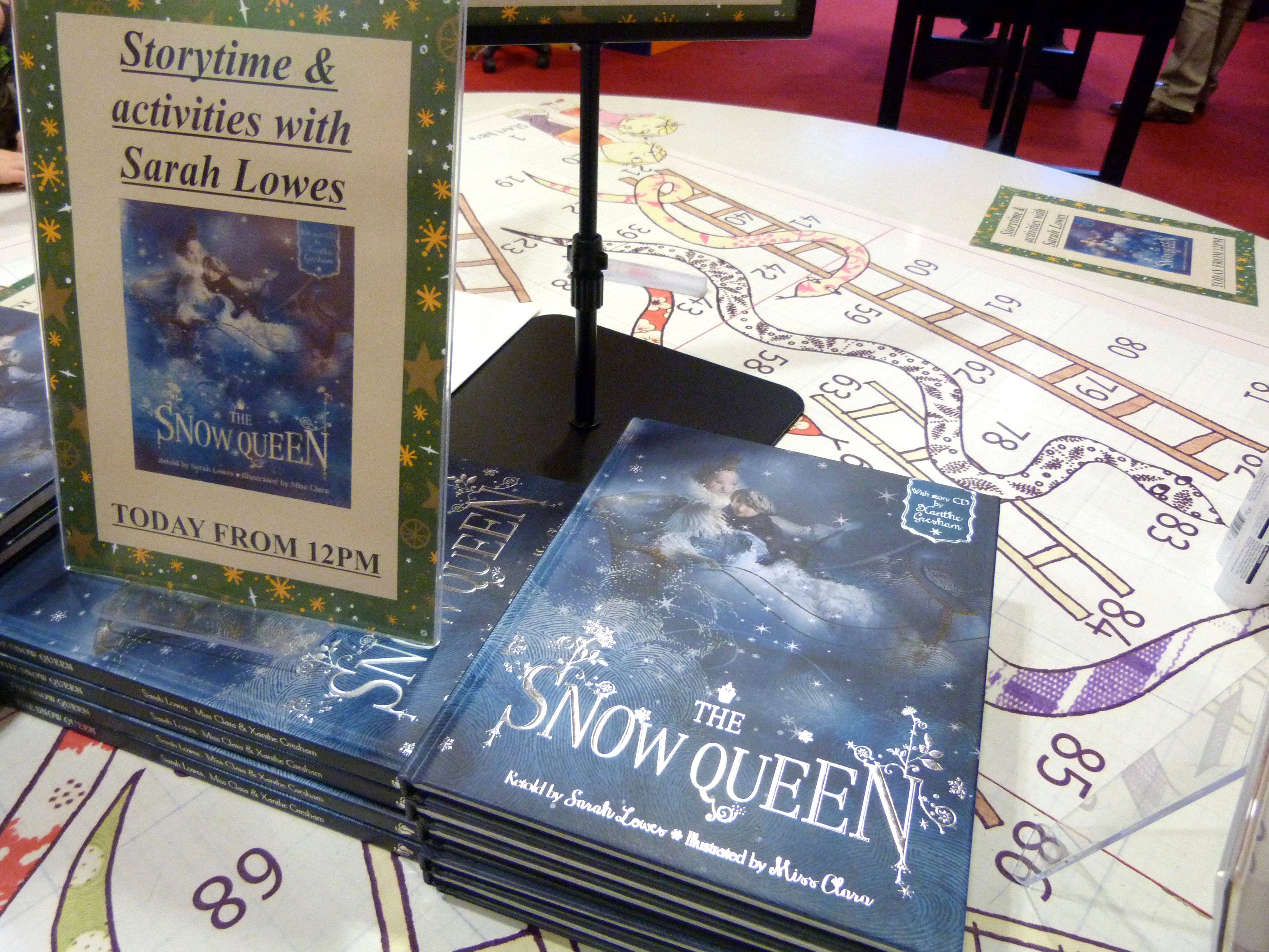 """Sarah Lowes """"The Snow Queen"""" book launch at Waterstones"""