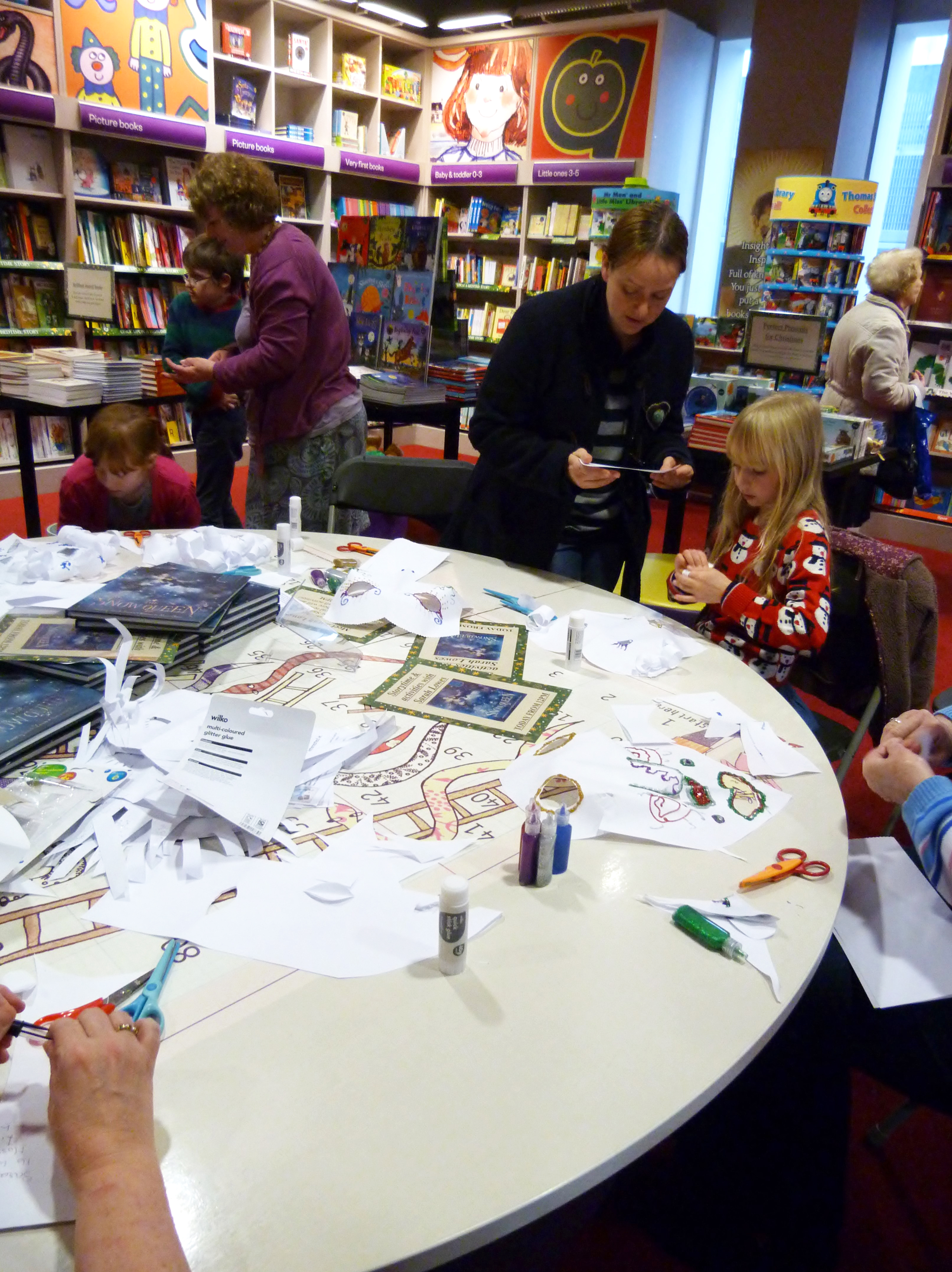 """a busy time is had by all at Sarah Lowes """"The Snow Queen"""" book launch"""