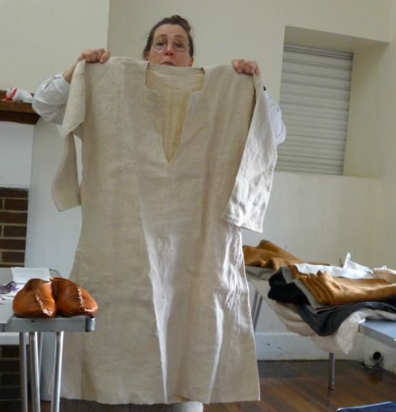 Linen tunic from Belgium circa 1860 - similar to Iron Age construction