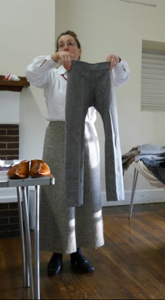 Trousers eventually came to be worn by men riding horses