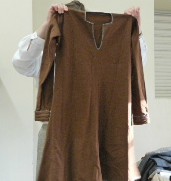 In Saxon times the tunic became a more elaborate affair - before the year 1000AD