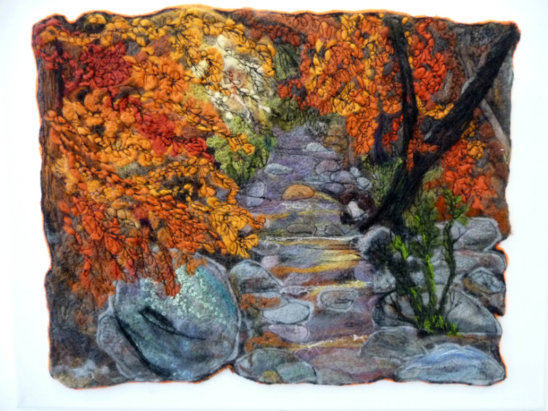 AUTUMNAL STREAM by Sue Tyldesley
