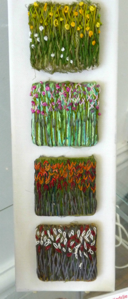 HAND-STITCHED IMAGES - THE FOUR SEASONS by Sandra Kedzlie