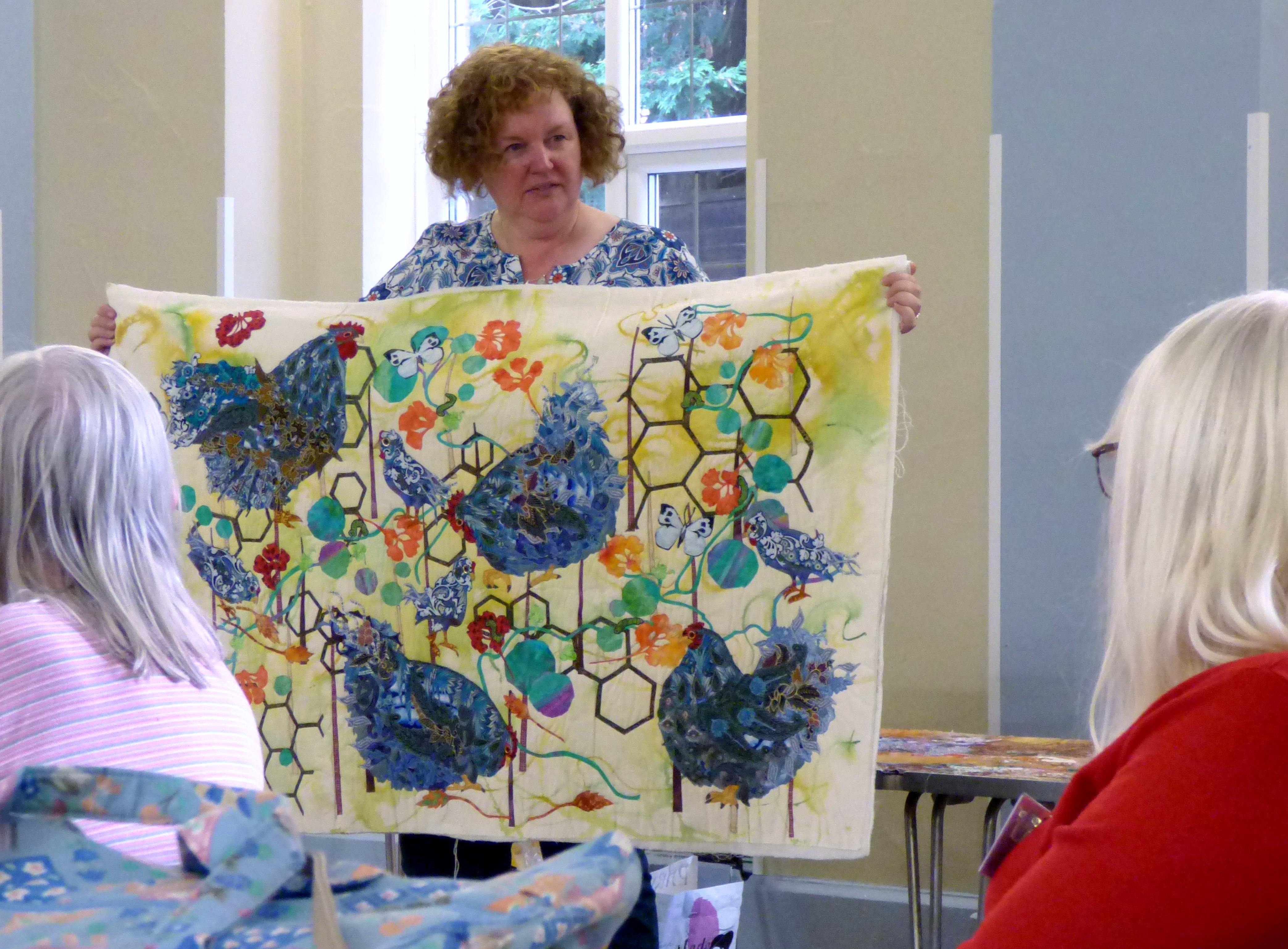 Lizzie Wall at Raw Edge Applique workshop with Lizzie Wall