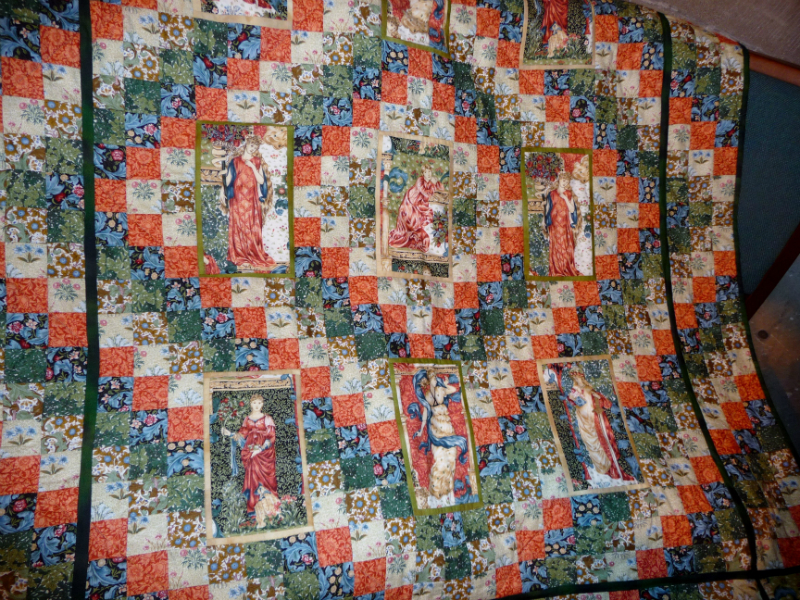 Quilt made from William Morris fabric & donated to the church