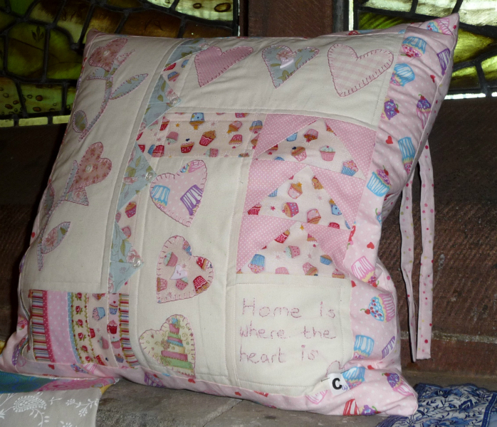 Cushion HOME IS WHERE THE HEART IS by Gill Chamberlain