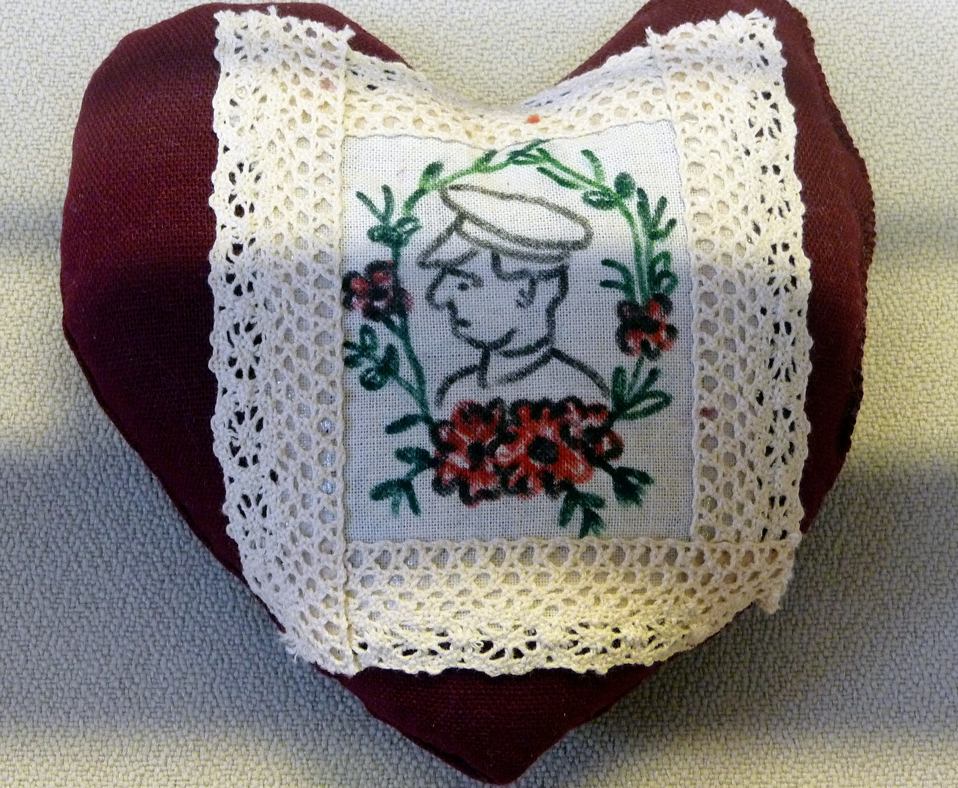 pincushion to commemorate World War 1  made by The Kilbane Family