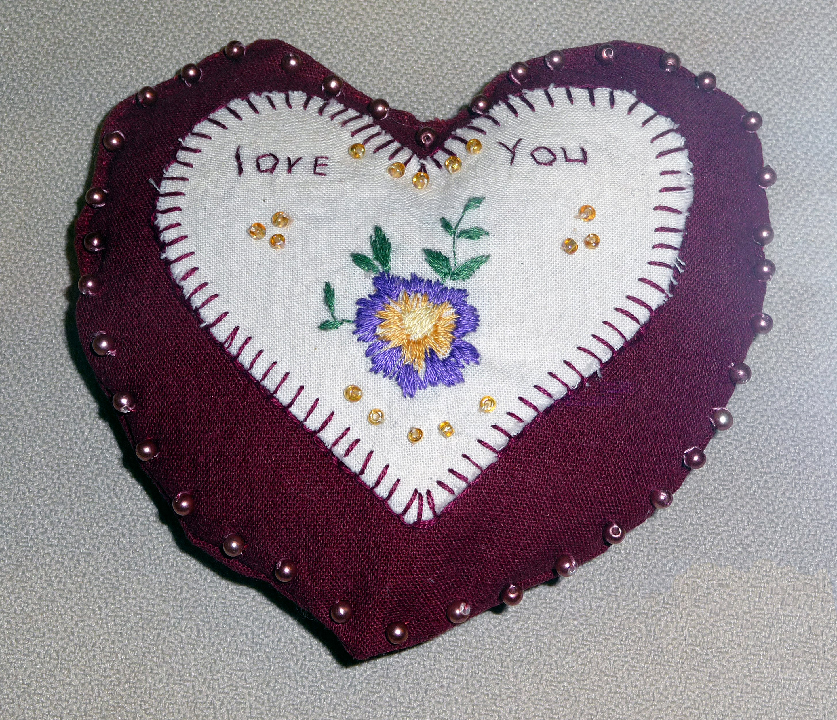 pincushion to commemorate World War 1 made by Frances McLaren in memory of Patrick Conway