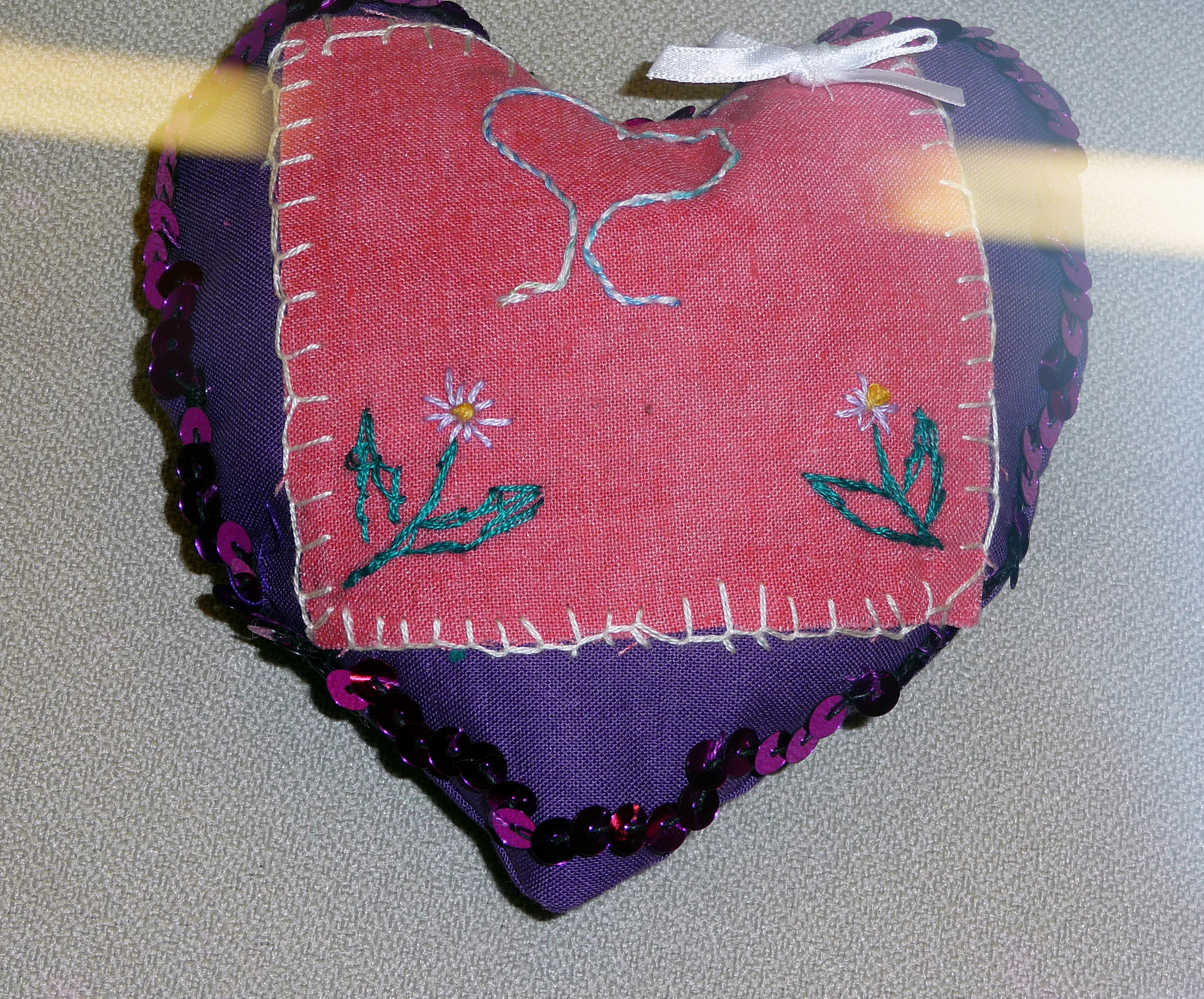 pincushion to commemorate World War 1 made by Grace, a Merseyside Young Embroiderer