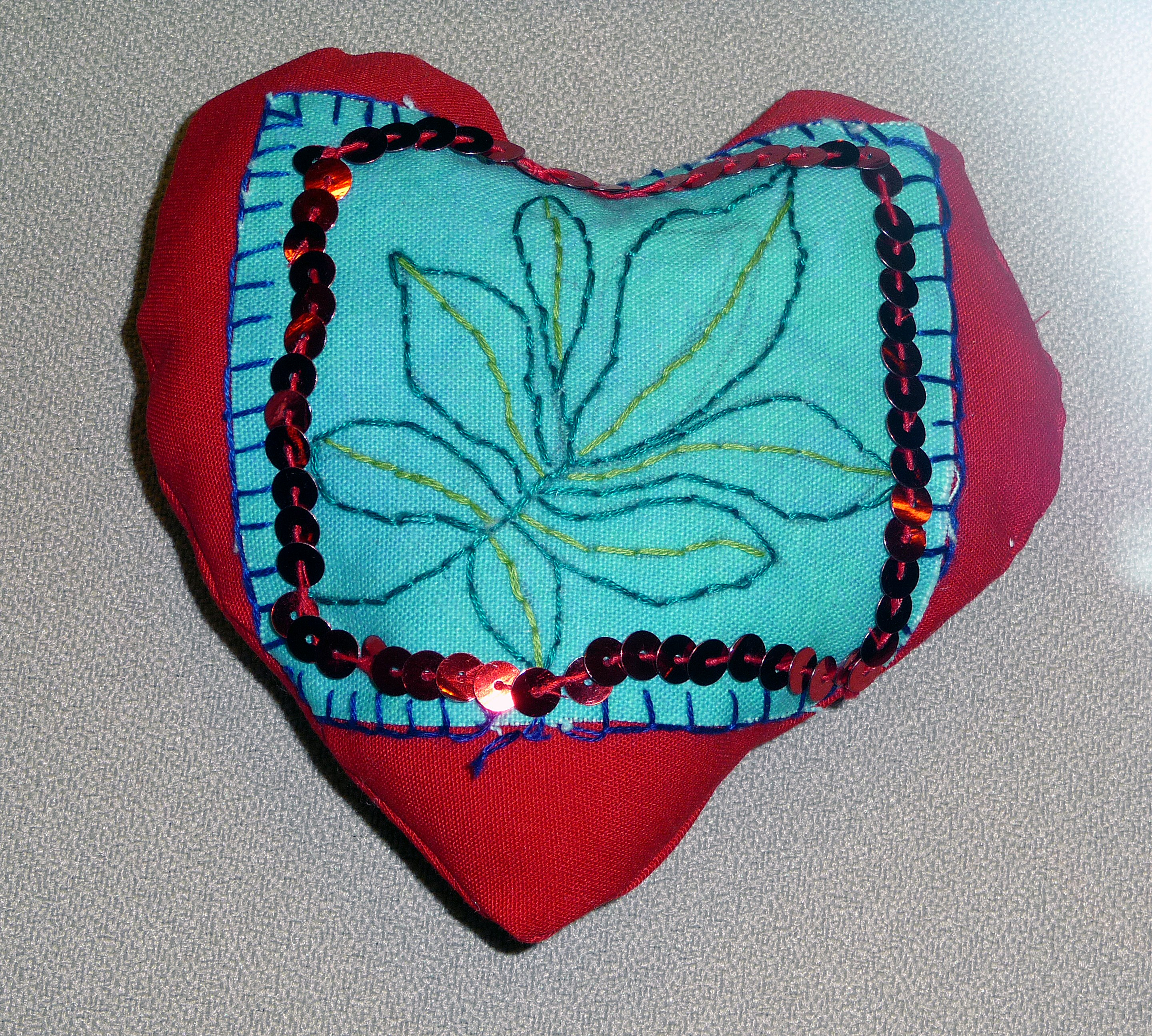 pincushion to commemorate World War 1 made by Ruby, a Merseyside Young Embroiderer
