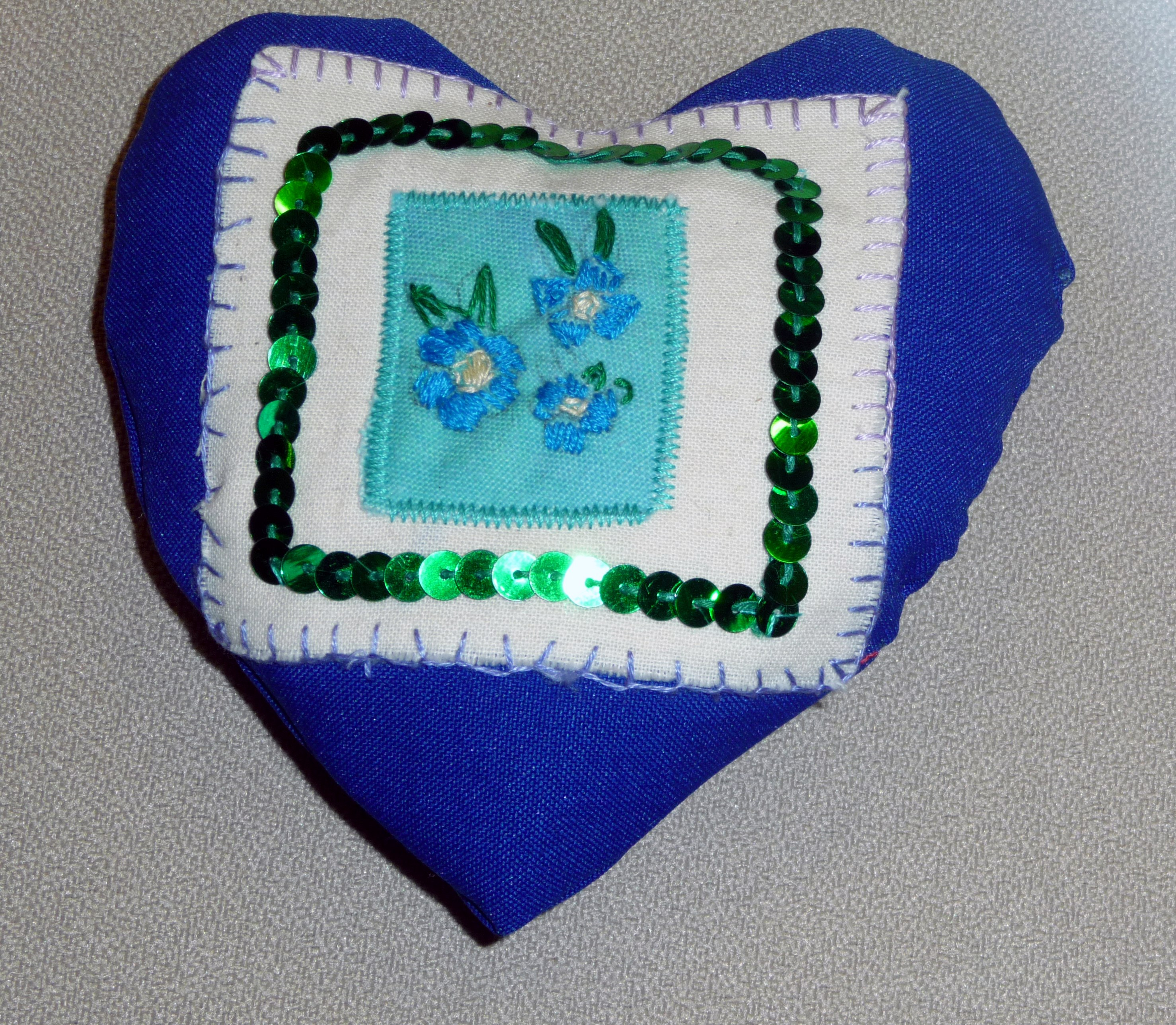 pincushion to commemorate World War 1 made by Emma a Merseyside Young Embroiderer