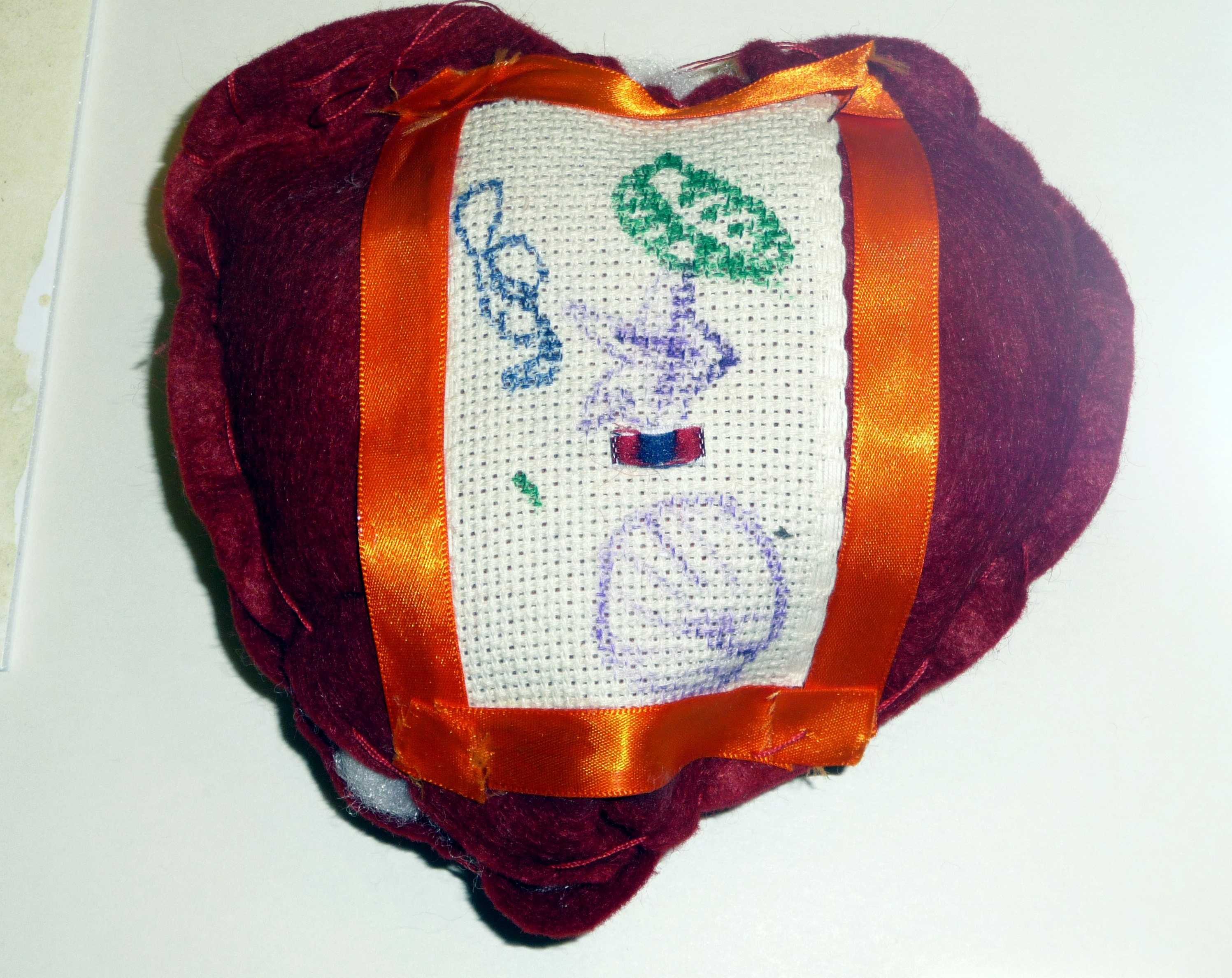 pincushion to commemorate World War 1 made by Jack Hopkins from Lansbury Bridge School, St Helens