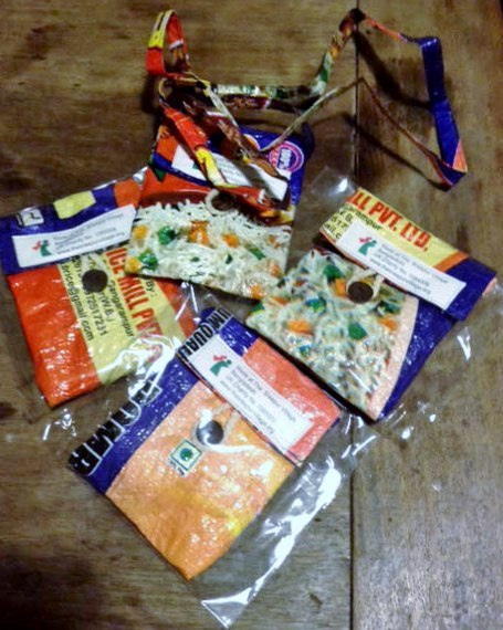 small phone bags in ecoRecycle range from Sreepur, Bangladesh