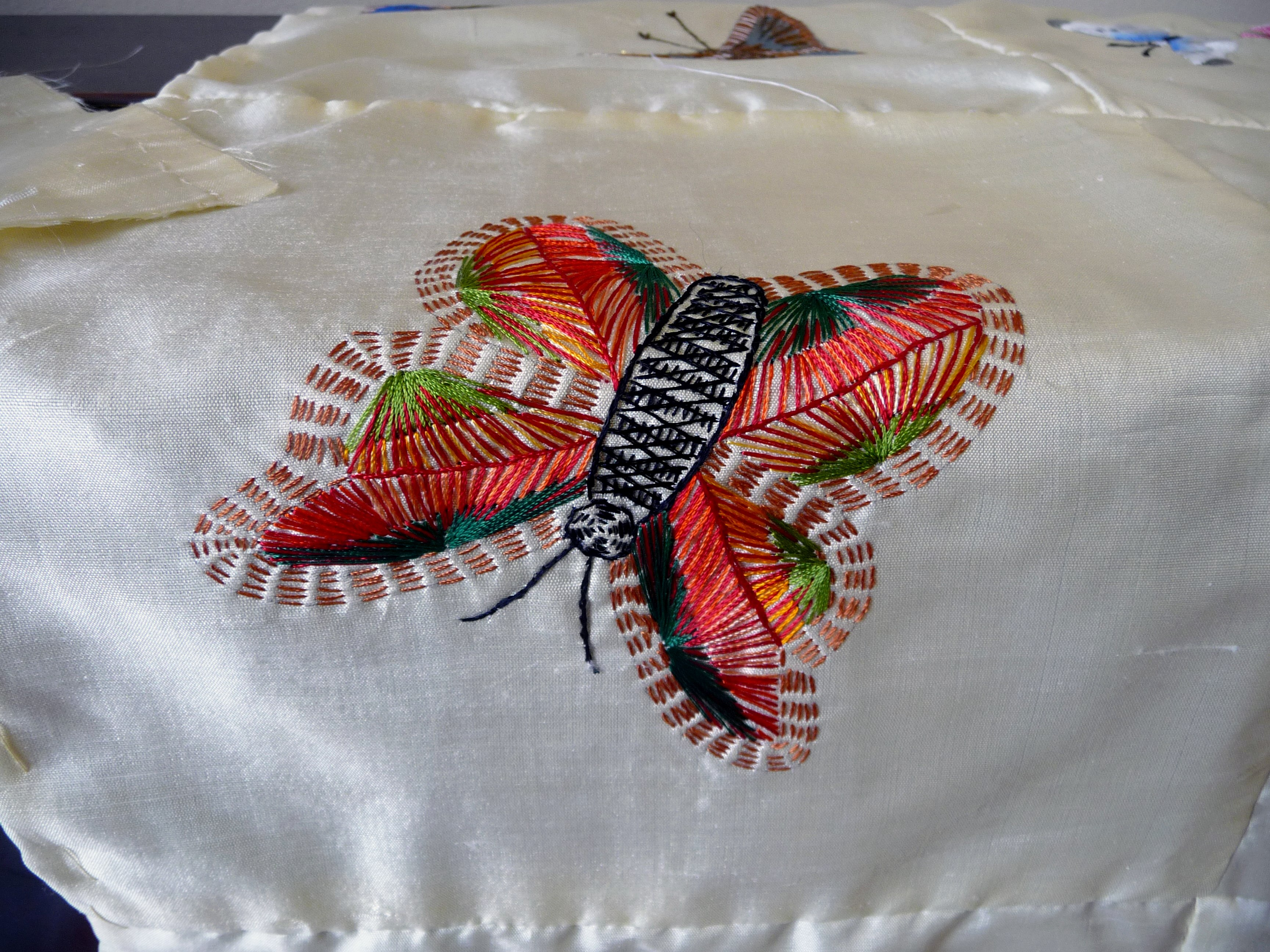 embroidered butterfly on the 2015 Sreepur quilt