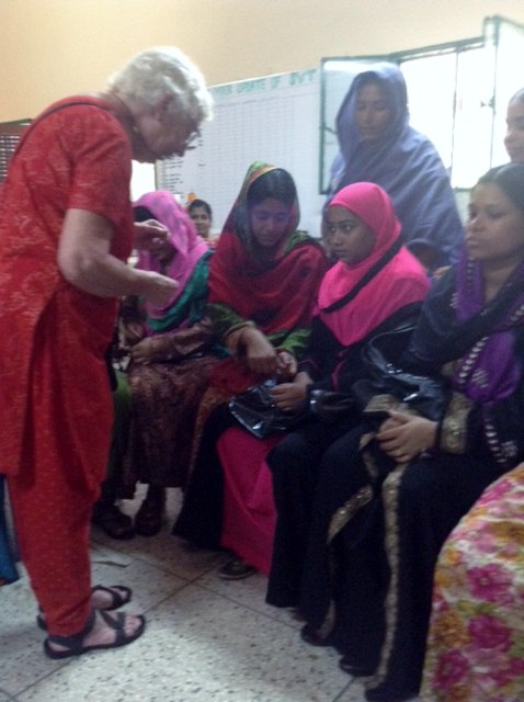 Ruby Porter MBE with some of the women of Sreepur, Bangladesh