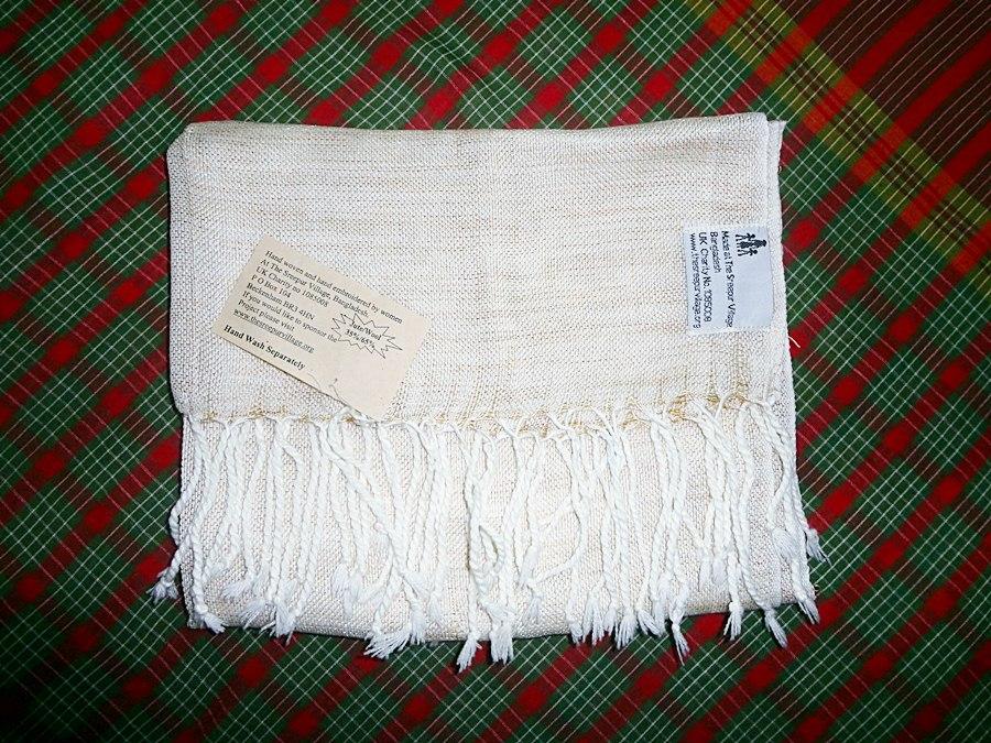 new design Sreepur scarf, woven in Bangladesh