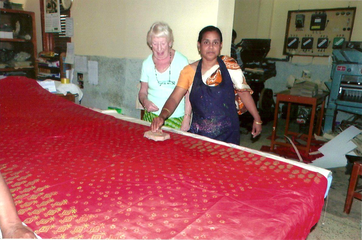 block printing fabric in Sreepur, Bangladesh 2014