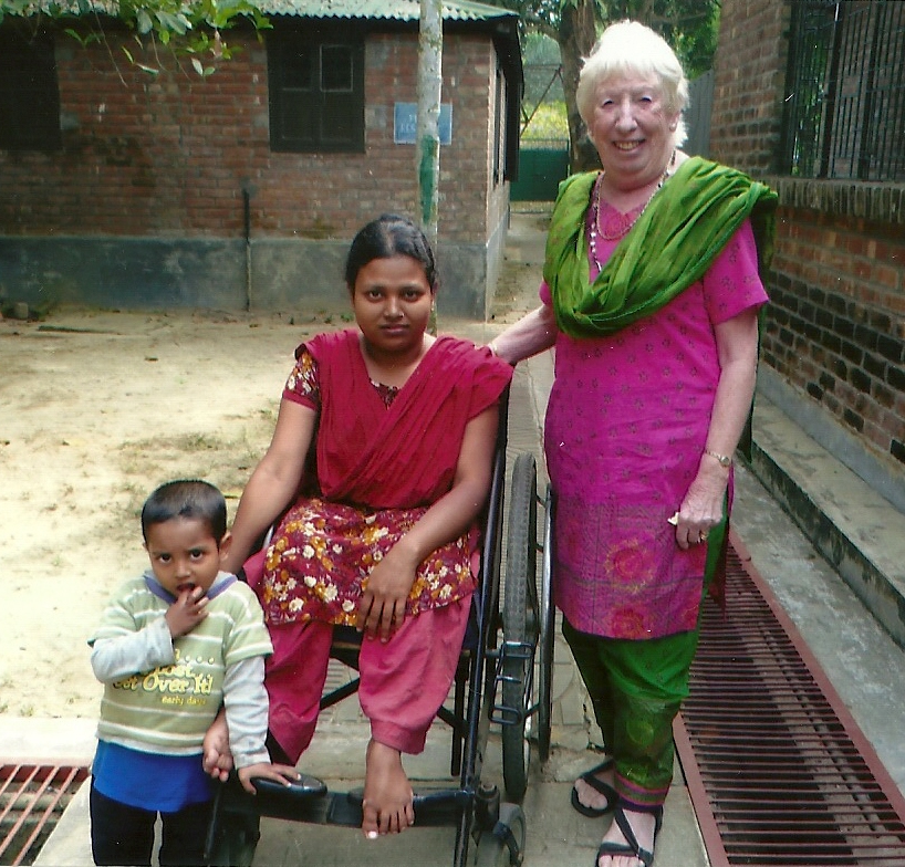 Paural with her son and Rubina Porter MBE in Sreepur, Bangladesh 2014