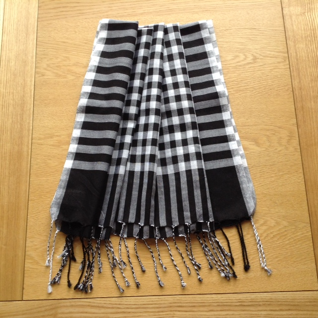 this is a new line in scarves made in Sreepur, Bangladesh which will soon be on sale in UK to aid Sreepur funds.