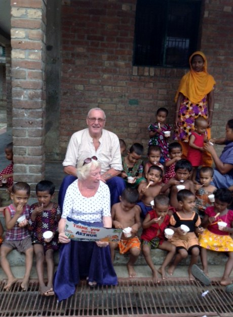 a friend of Sreepur paid for everyone in Sreepur Village to have ice cream - a rare treat!