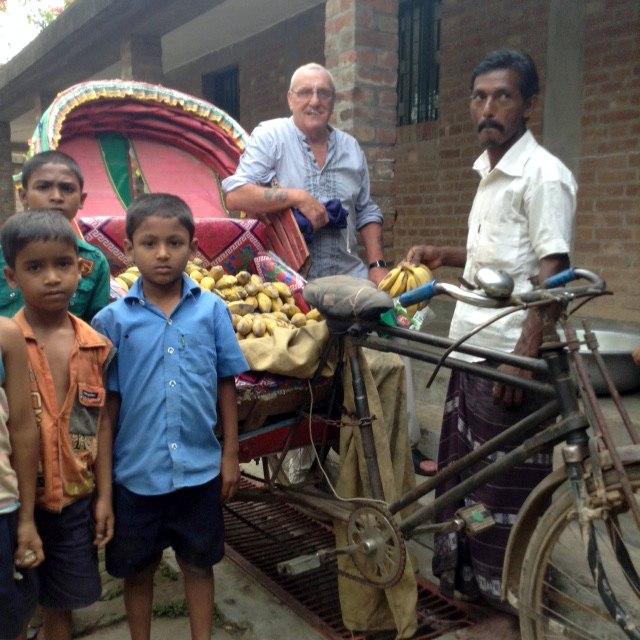 Ken is visiting the banana seller in Sreepur, Bangladesh