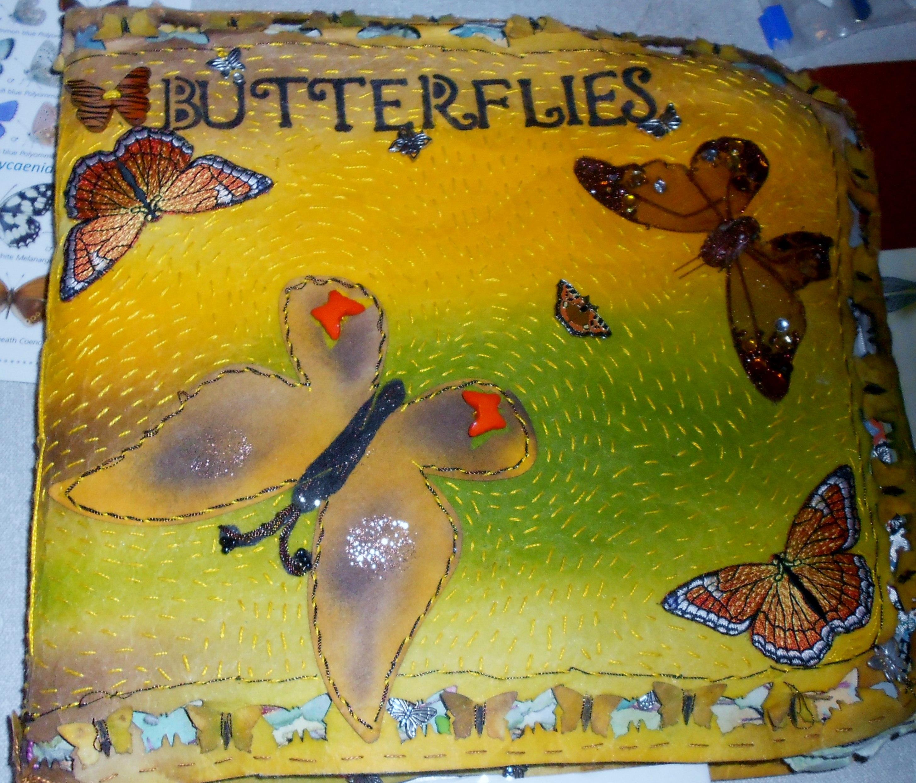 Tutor sample stumpwork butterfly workshop