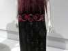 TUNIC-STYLE EVENING DRESS, silk net embroidered with glass bugle beads, rayon silk under-slip, circa 1921-23.