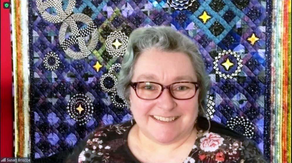 Susan Briscoe, Talk by Susan Briscoe about Sashiko, March 2021