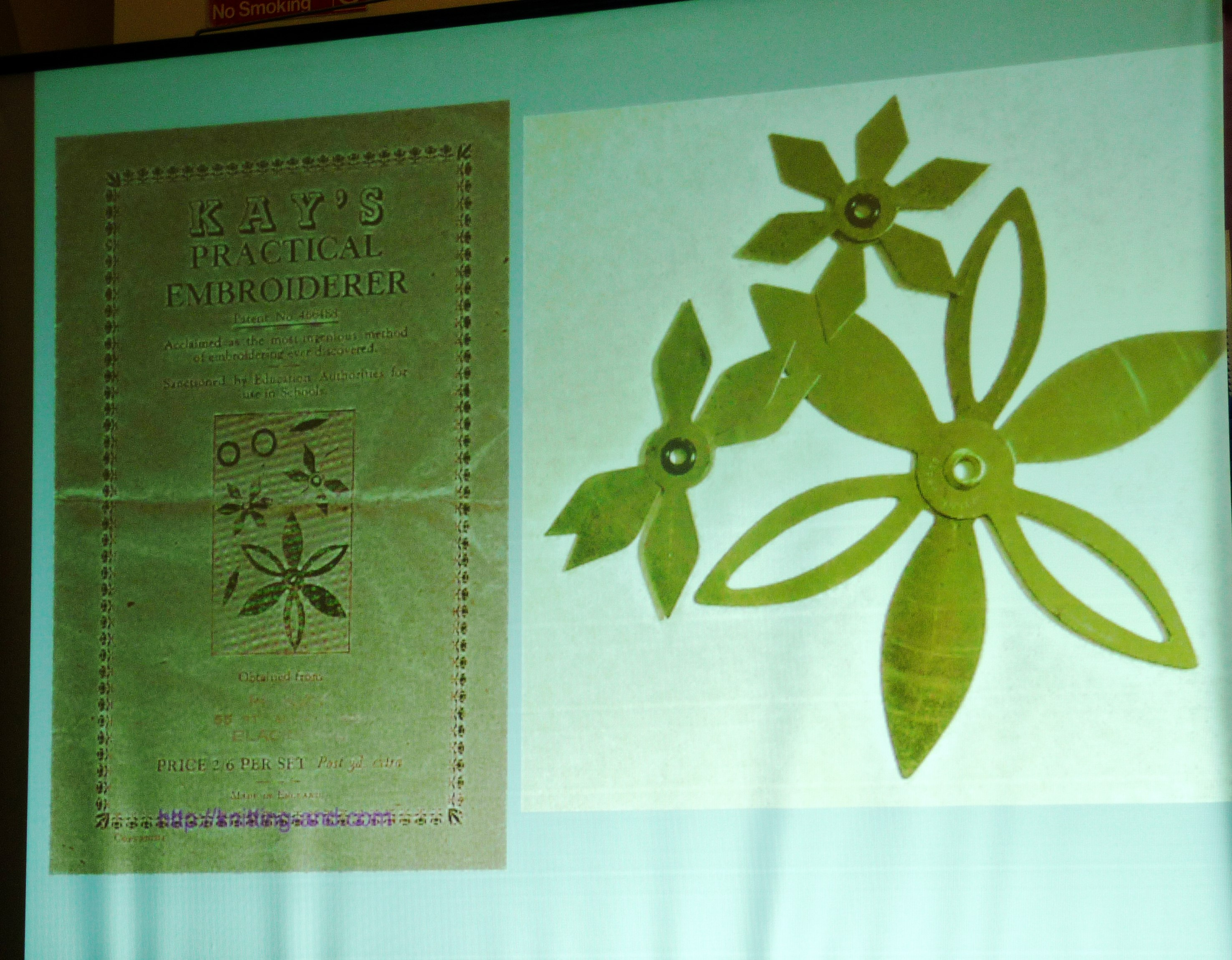 one of Alice Colson's slides showing Kay's Practical Embroiderer