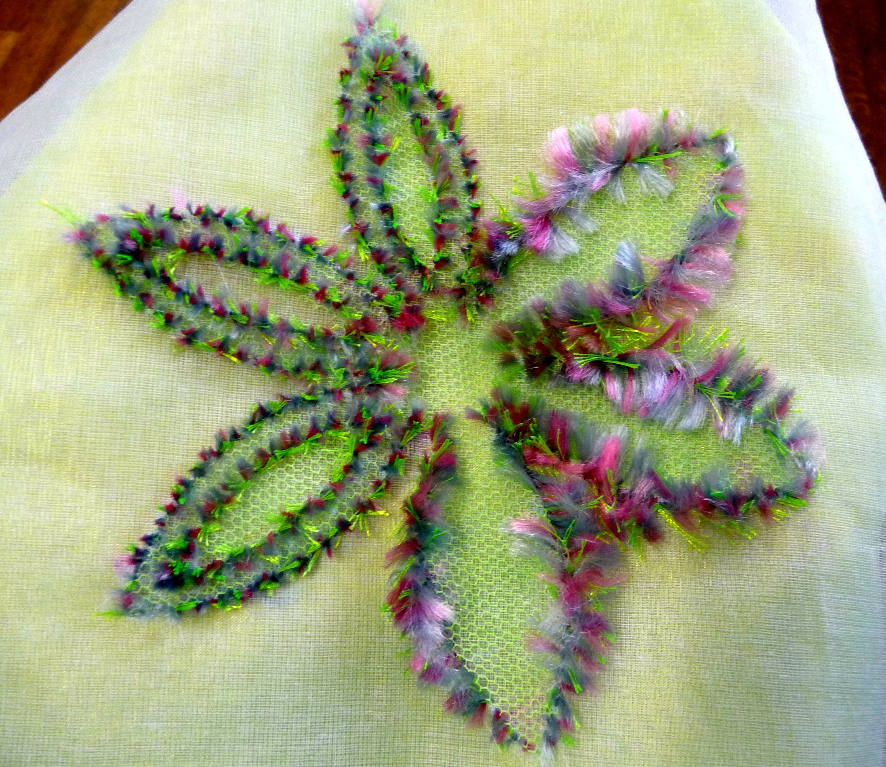 sample made by Alice Colson using Kay's Practical Embroiderer
