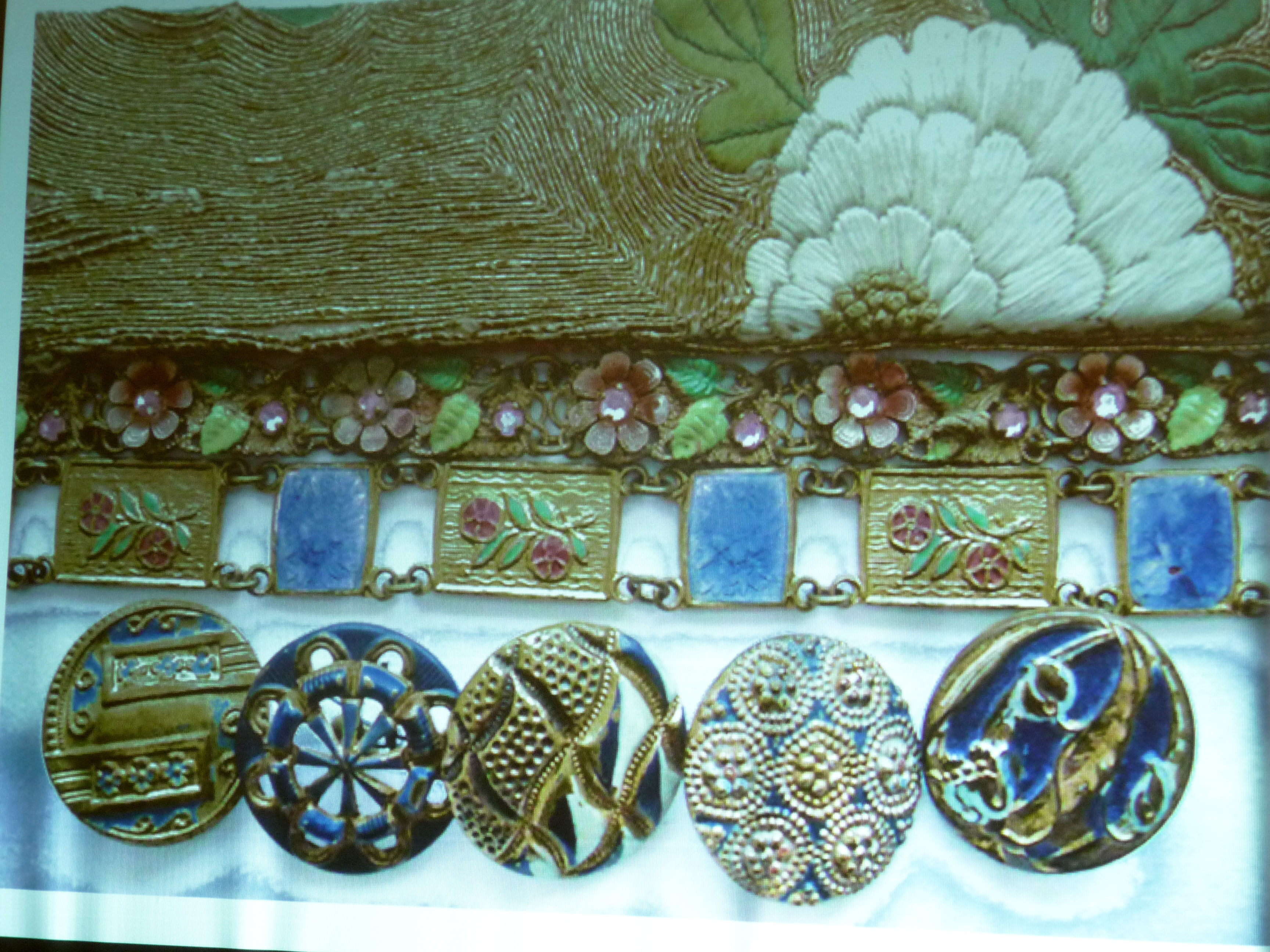 slide showing collection of objects used for inspiration by Alice Colson