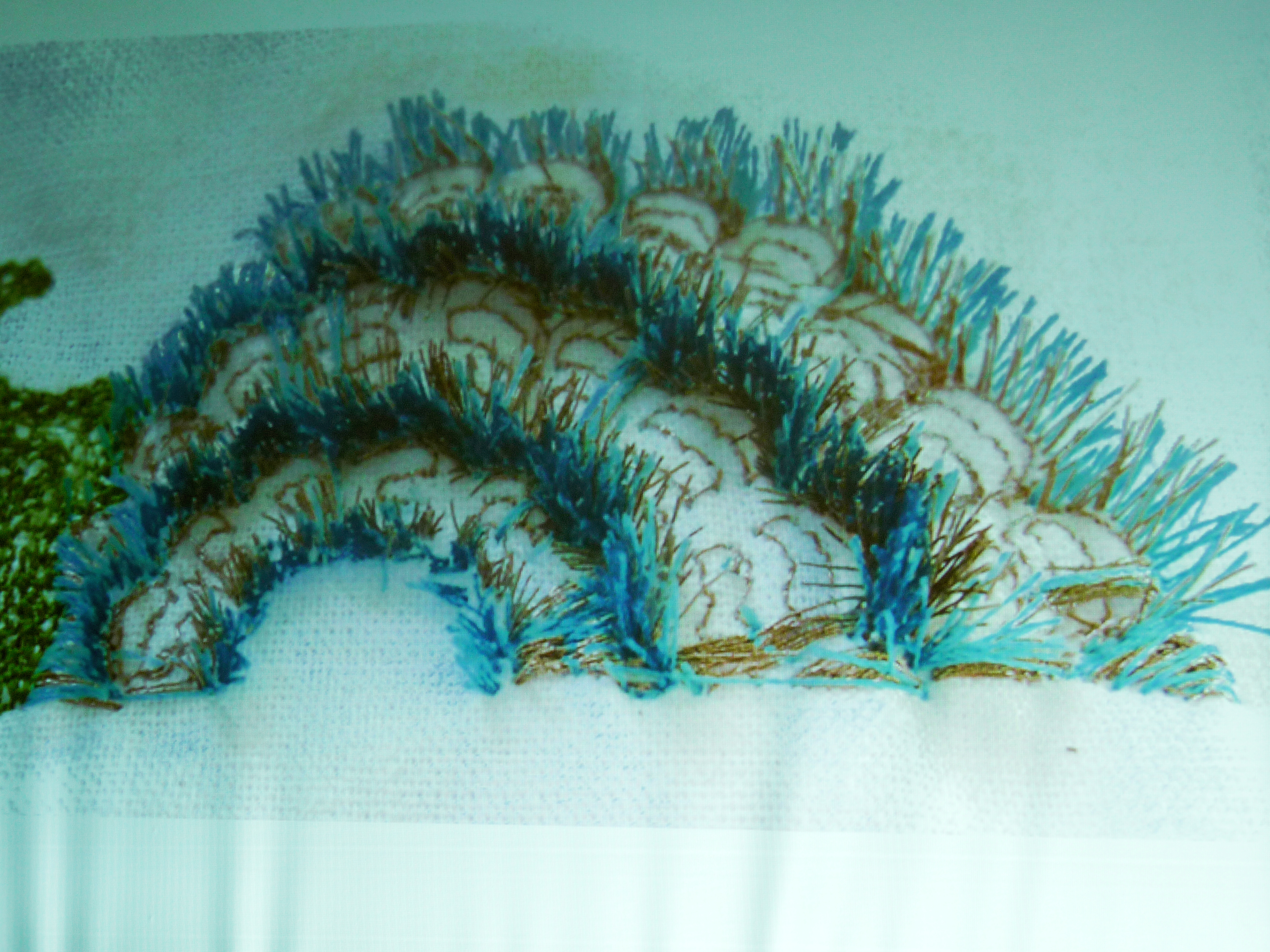 slide showing machine embroidery by Alice Colson