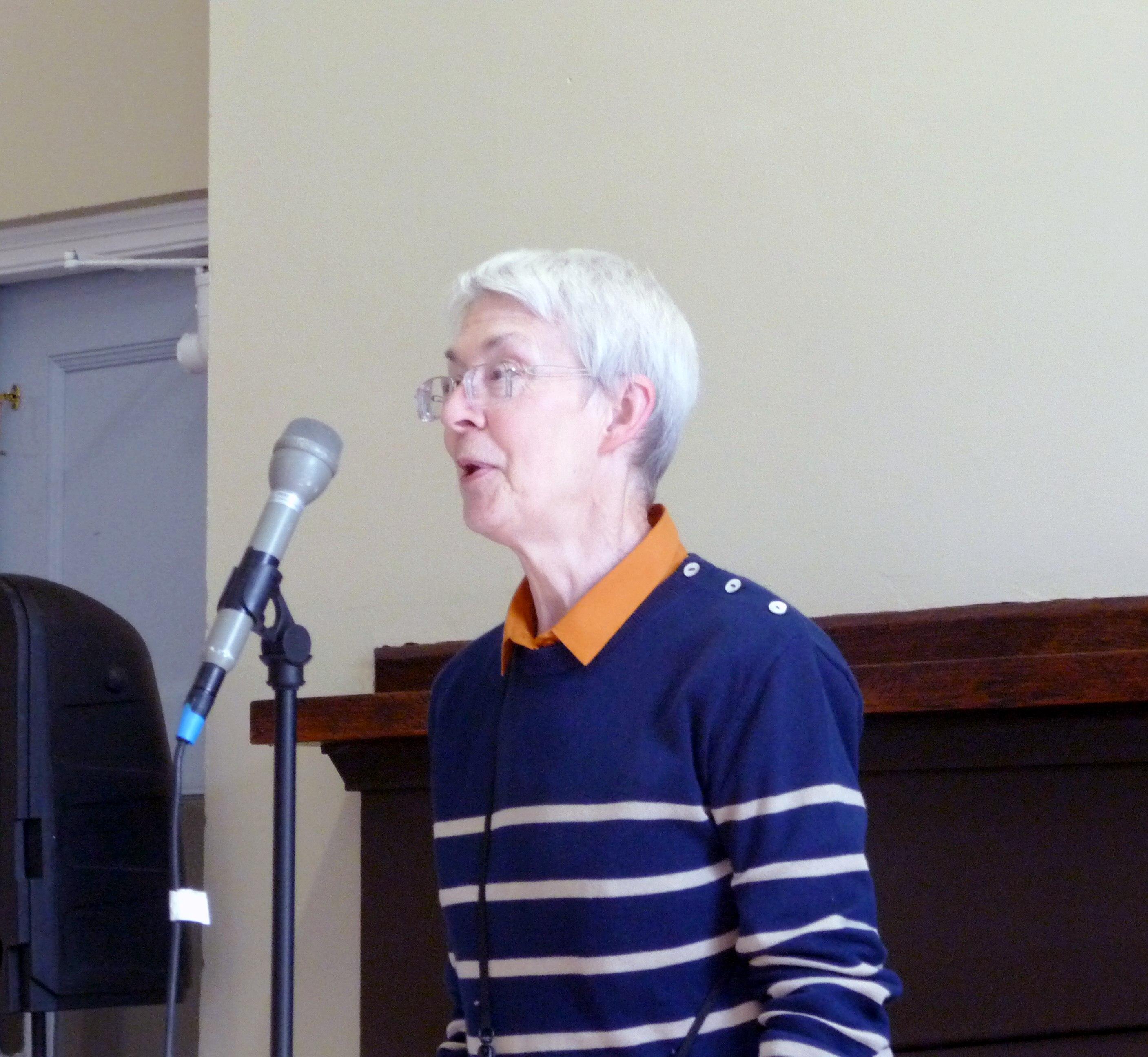 Diana Shone from Altrincham EG speaking at MEG, Sept 2015