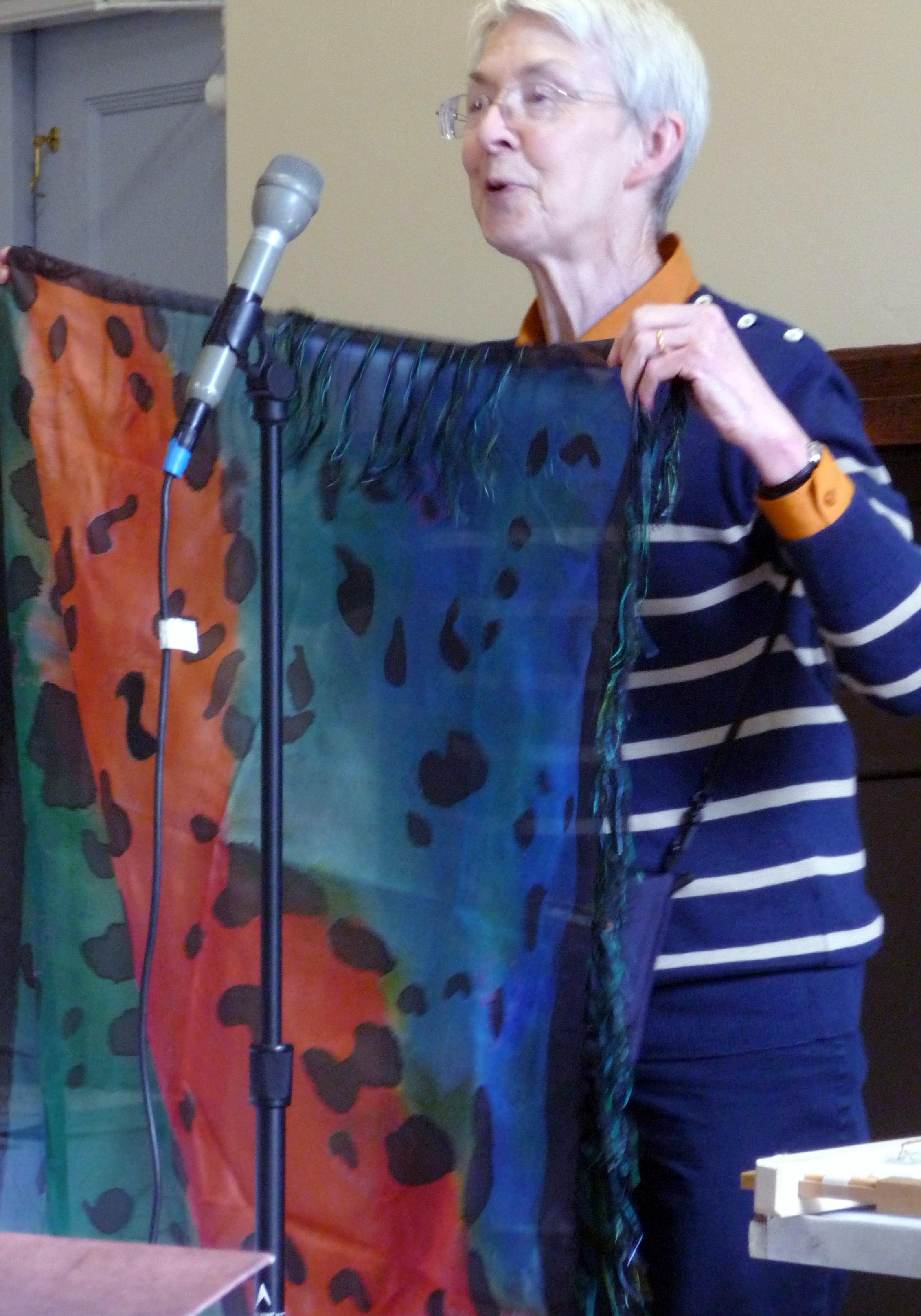 printed scarf by Diana Shone, Altrincham EG