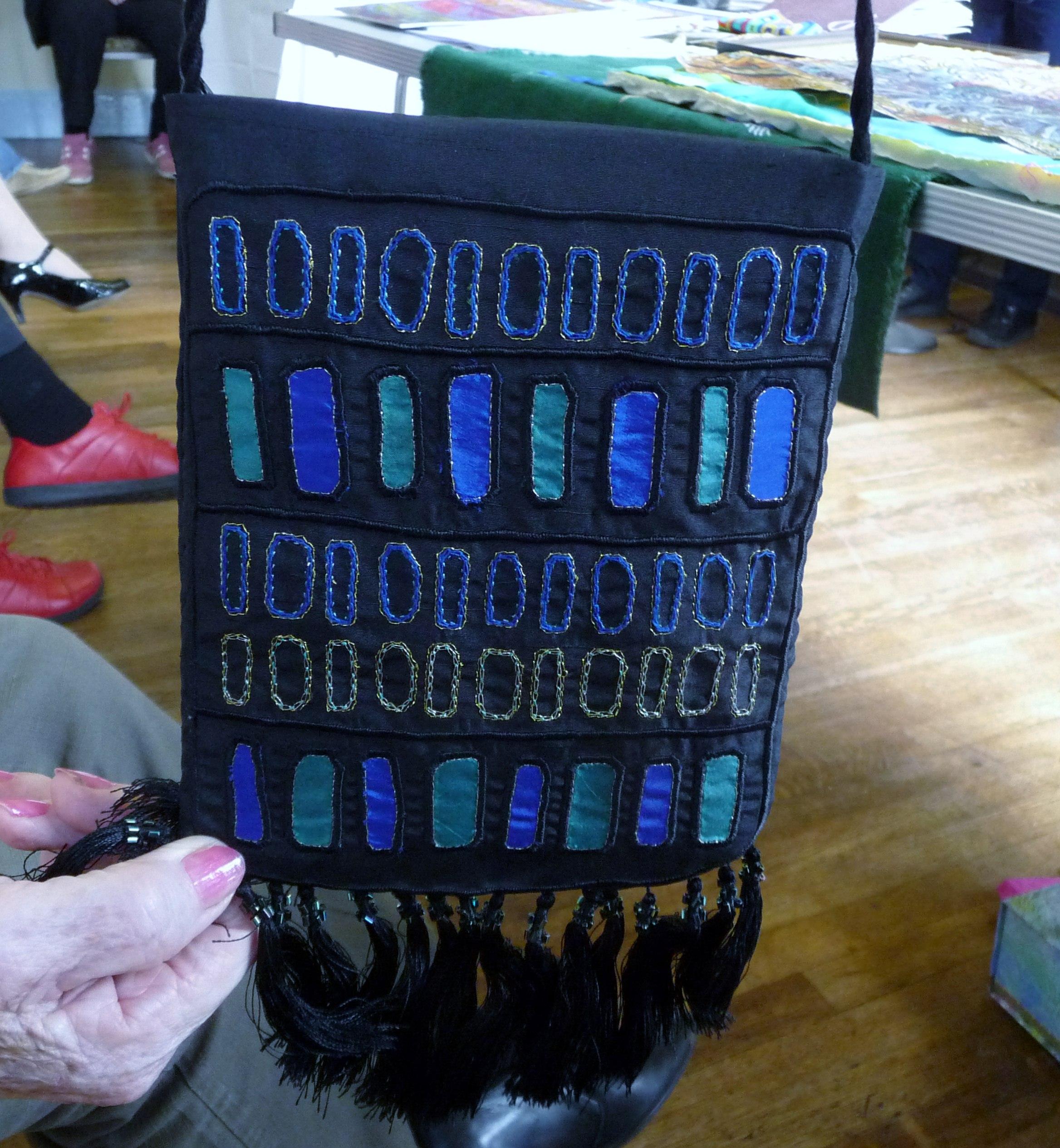 embroidered purse by Diana Shone, Altrincham EG