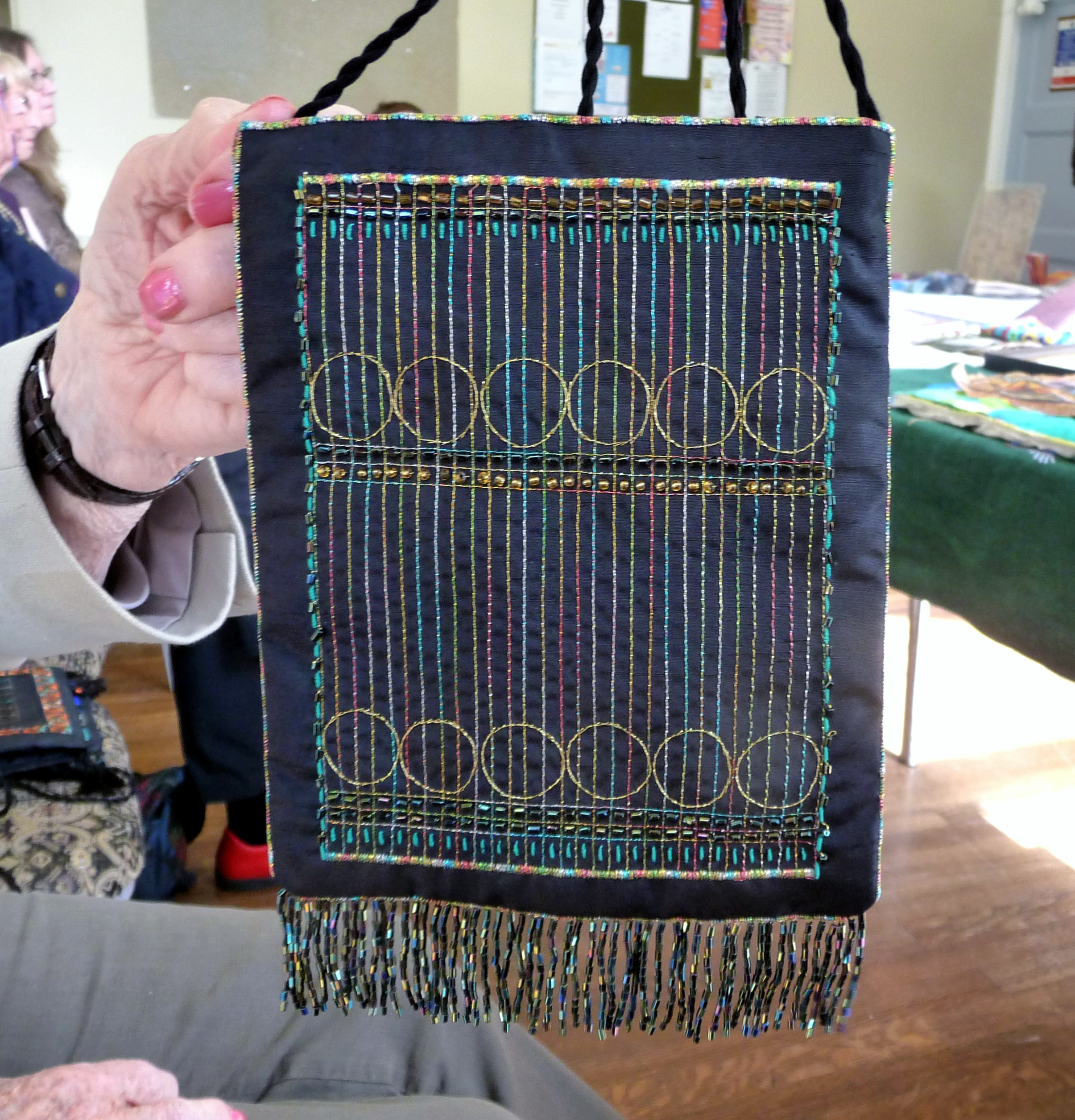 embroidered purse by Diana Shone, Altrincham EG