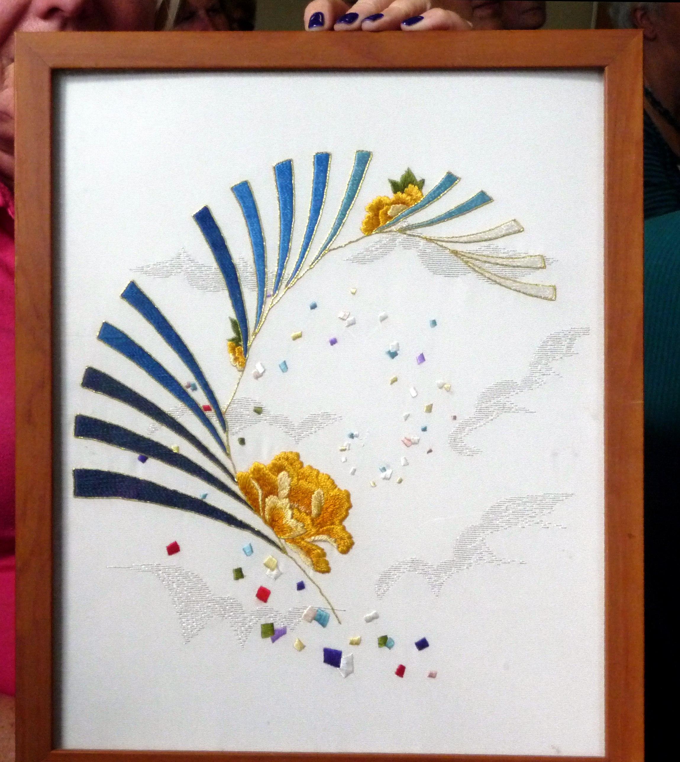 Japanese embroidery by Sandra McFarlane, Altrincham EG